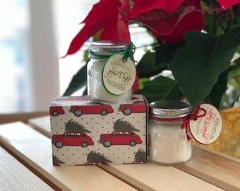 Mini Small Mason Jar Candles Set | Favors Gift Set | Party Favors | Stocking Stuffer | Gifts under 10 | Gifts for Her | Christmas Candles