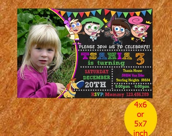 The Fairly Odd Parent Birthday Invitation, The Fairly Invitation, The Fairly Birthday, The Fairly Party, Printable, Instant Download