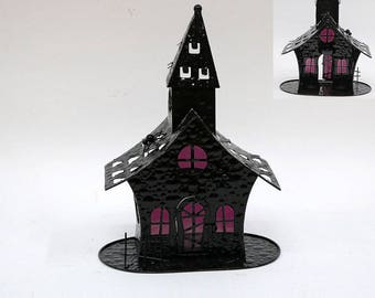 Purple Haze Halloween Shack tea light holder