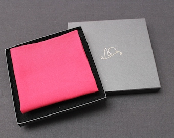 Deep Red Organic Cotton Pocket Square