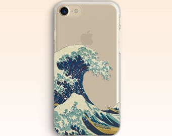 Kanagawa Wave Case iPhone SE case iPhone7 case iPhone 6 Cover iPhone 6s Plus Clear case for Samsung S8 Case For Galaxy S8 Plus S7 S6 S5 023