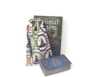 Tarot Bag, Tarot Pouch, Tarot Deck, Tarot Card Pouch, Tarot Card Holder, Tarot Deck Box, Runes, Runes Bag, Witchcraft Supplies, Witch Hat