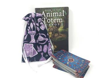 Magical Tarot Bag, Tarot Pouch, Tarot Deck, Tarot Card Pouch, Tarot Card Holder, Tarot Deck Box, Runes, Runes Bag, Witchcraft, Crystals