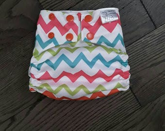 Chevrons pocket diaper
