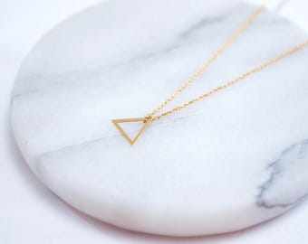 Chain ~ triangle ~ 925 Silver ~ Rosé