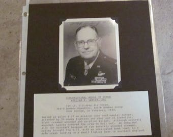 Medal Of Honor WILLIAM R. LAWLEY, JR. Signed Black and White Photograph