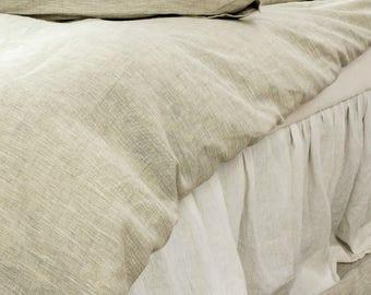 Linen Ruffle Bedskirt Bed Skirt Ruffle Bed Skirts Dust Ruffle Linen Bedding Bedskirt Linen Ruffle Bedskirt