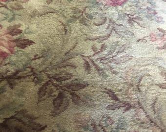 Vintage barkcloth rug