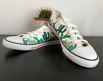 Custom converse style sneakers