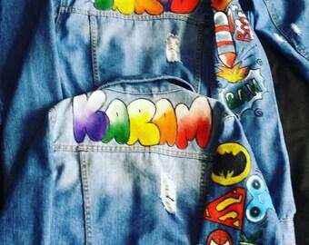 Custom kids denim jacket