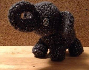 Elephant, crocheted, stuffed animal