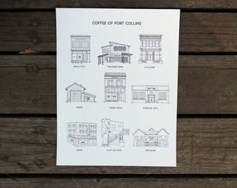Coffee of Fort Collins (9)  |  Hand drawn architecture portrait
