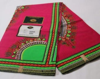 DeBokis Collection, Dashiki. Guaranteed Real Wax,Hit block  Block Print, 6 Yards