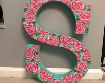 Lilly Pulitzer painted letters