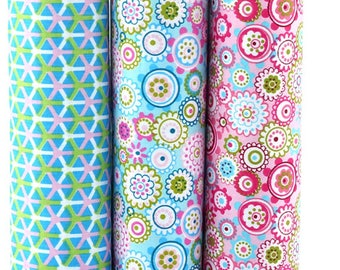 Print Floral Cotton Tessuti Patchwork Clothes Fat Quarter Bundles Fabric For Baby Clothes DIY Crafts 40X50CM 3PCS/LOT