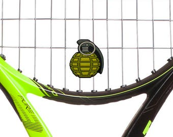 Hand Grenade Tennis Vibration Dampener Racket Shock Absorber 2-Pack by Racket Expressions. Great tennis gift for men or women!