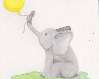 COMING SOON - Baby Elephant Card Print