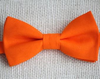 Orange bow tie, boys bow tie, bow tie for men, wedding bow tie, photo prop, groomsmen bow tie