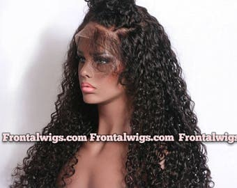 Customized FULL LACE Wig - Curly - Customized Lace Frontal, Pre Plucked Frontal, Custom Wig, Curly Wig, Virgin Hair