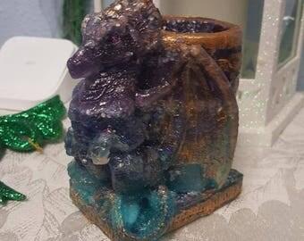 Wilhelmina Orgone dragon candle holder