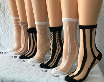 Beautiful Women Strip Socks
