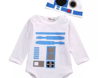 Star Wars baby set - R2D2 Hat and vest set