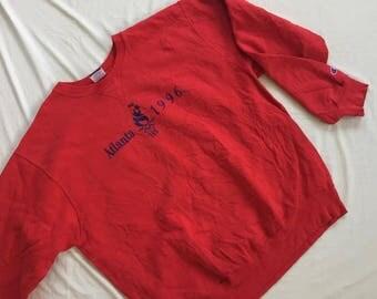 Vintage 90s Champion Olympics Atlanta 1996 Sweaters Hiphop
