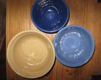 Monmouth Pottery nestig bowls 1940's