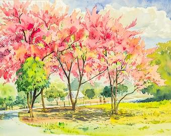 Landscape Watercolour Painting Q212