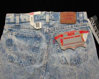 Deadstock LEVIS 1980s SNOW WASH Jeans 29 x 34