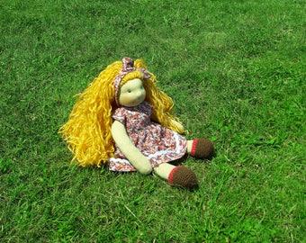"Alice-13"" Waldorf Inspired Doll, ECO, Handmade"
