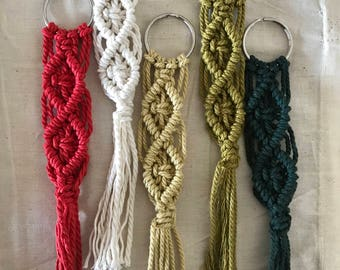 Door keys macrame 10 colors