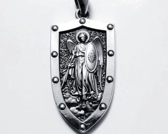 Silver 925 Michael the Archangel Angel Pendant