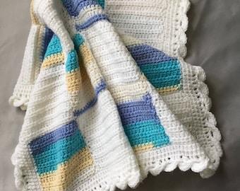 Unisex patchwork baby blanket