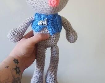 Cute mouse stuffed animal~ crochet handmade mouse