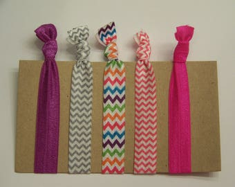 Hair Tie Set - Chevron