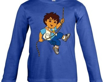 Go diego Go  Long Sleeves T-shirt for children - available in many sizes and colours