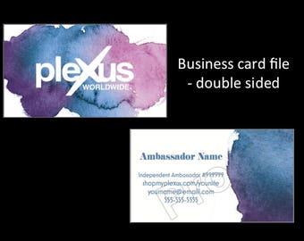 Plexus Business Card (DIGITAL file) - Double sided