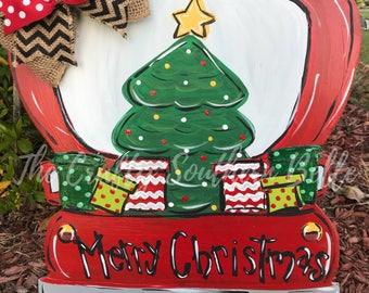 Christmas Truck Door Hanger, Christmas Door Hanger, Truck Door Hanger