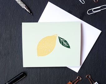 Lemon NoteCard