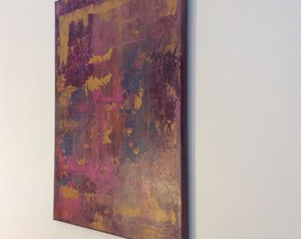 Abstract Painting Free Shipping Canada  Original Abstract Painting Painting Vibrant Colors Textured Painting Canvas Art  18 X 24 inches