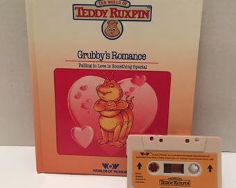Teddy Ruxpin Grubby's Romance Book with cassette Tape.