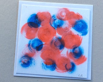 Christmas -Hand Painted Original - Art on a Card -Greeting card