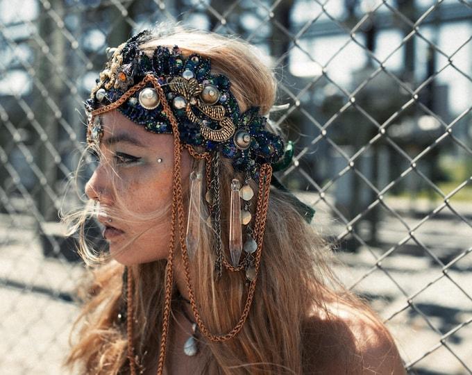 Sapphire  Headpiece