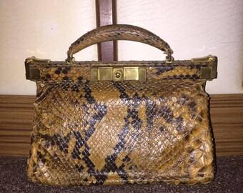 1940's/50's genuine snake skin handbag