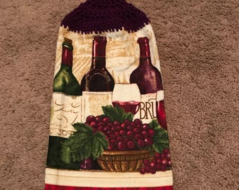 Crochet Towel (Wine)