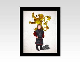 Game of Thrones inspired Tyrion Lannister sigil print