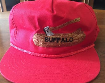 YoungAn Buffalo throwback leather strap hat