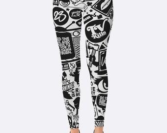 Marvel leggings,Comics leggings,white black leggins,Funny leggings,superhero leggings,Sports Leggings,yoga leggings,pants,printed leggings