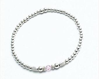 Gorgeous silver tennis style stacking bracelet